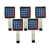 WINGONEER 5Pcs 4x4 Universial 16 Key Switch Keypad Keyboard For Arduino