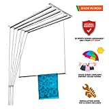 NR-I Stainless Steel Rust Proof Ceiling Clothes Hanger Roof Mount Cloth Dryer With Individual Dropdown Railers (6 Pipes F3-001)