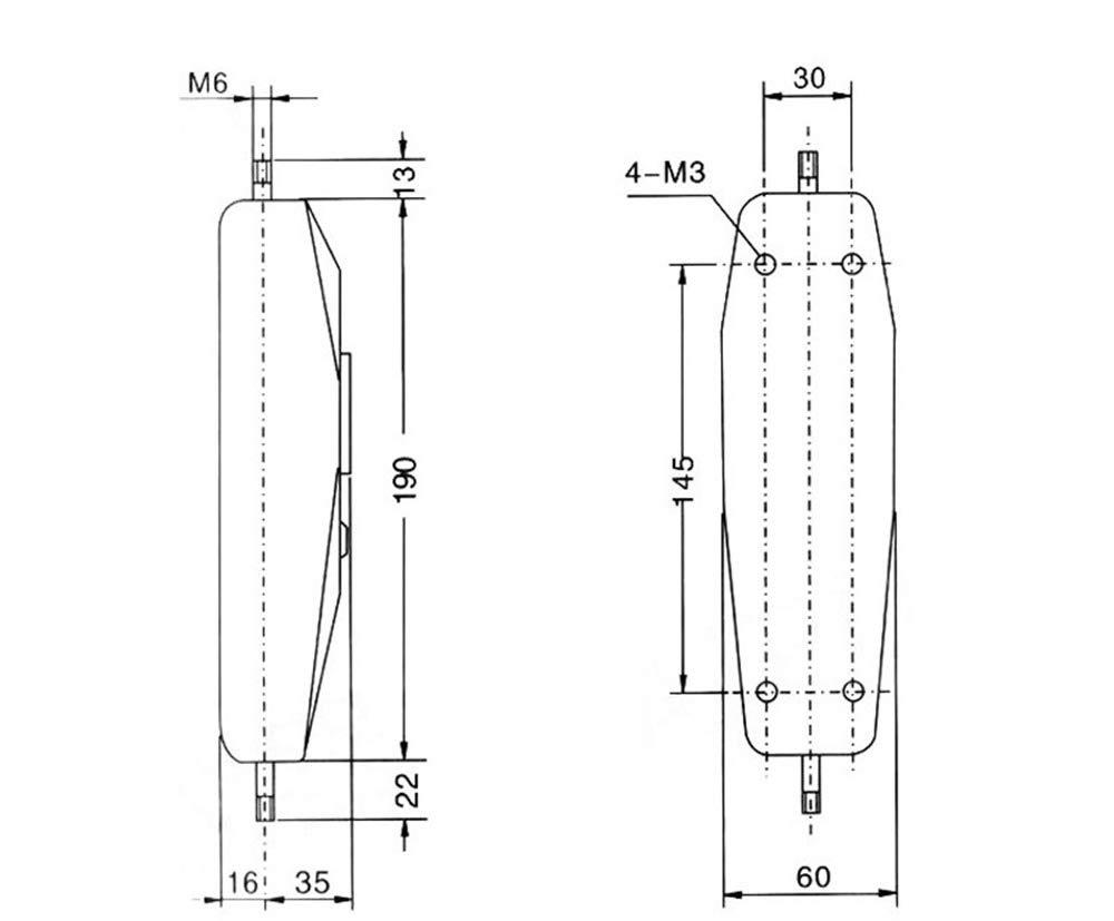 BAOSHISHAN Dial Mechanical Push Pull Gauge Force Gauge Meter Tester NK-500 500N