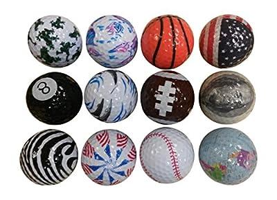Father's Day Gift Crazy Golf Balls (1 Dozen)