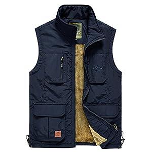 Men's Outdoor Multi-Pockets Vest Jacket Outerwear Mountain Fishing Traveling Camping Lightweight Sleeveless Jackets