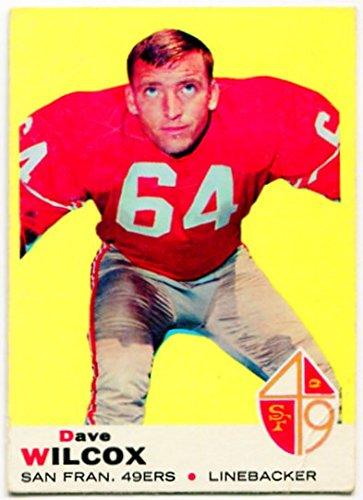 1969 Topps Dave Wilcox Card #44 San Francisco 49ers Oregon