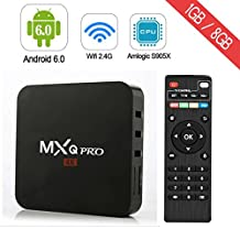 RBSCH 4K MXQ Pro Android6.0 Smart TV Box Amlogic S905X Quad Core Chipset 1G/8G support WiFi LAN Audio Players