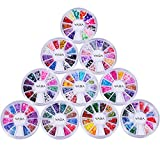 Premium Quality Set of 10 Wheels Nail Art Fimo Slices Decal 3D Decorations In 120 Designs By VAGA