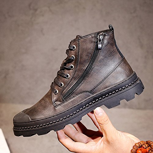 HL-PYL-uomini scarpe alte Martin stivali scarpe All-Match Scarpe Casual Scarpe Uomo in Europa,39,Nero