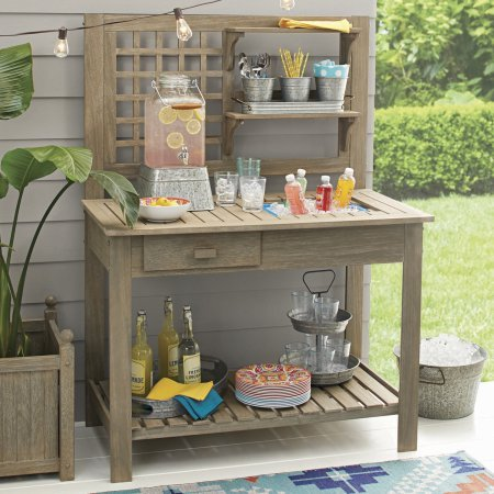 Better Homes and Gardens Camrose Farmhouse Outdoor Potting Bench by Better Homes and Garden