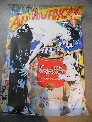 Mr. Brainwash (Banksy style) limited issued Graffiti poster