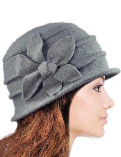 e439a14fd Dahlia Women's Daisy Flower Wool Cloche Bucket Hat - Buy Online in ...