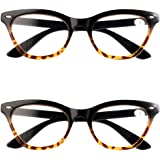 Inlefen Reading Glasses 2 Pack Anti Blue Light Women Men Computer Reading Glasses Goggles