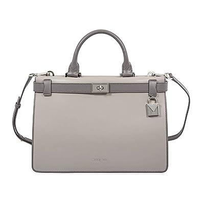 9cfcafe3c528 Amazon.com  Michael Kors Tatiana Medium Leather Satchel GREY MULTI ...