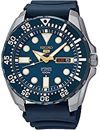 Seiko Diver Automatic Blue Dial Blue Rubber Mens Watch SRP605K2