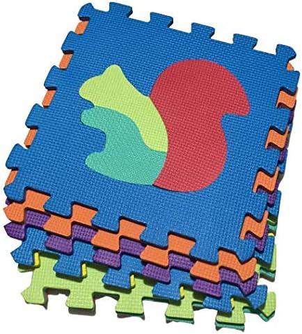 alfombra puzzle para bebe 8 pcs 32cm dise/ños de animalitos para bebes