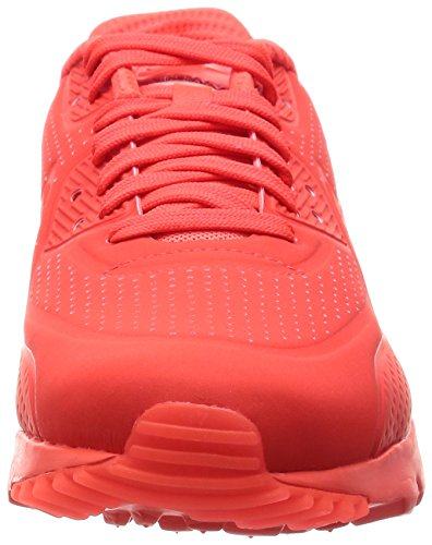 Nike Air Max 90 Leather, Zapatillas de Running Para Hombre Rojo (Brght Crmsn / Brght Crmsn-White)