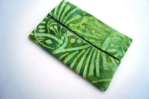 Batik Fabric Pocket Travel Tissue Holder in Shades of - Shades Sick