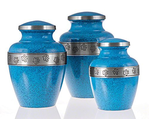 Avalon Evening Blue Paw Series Pet Urn