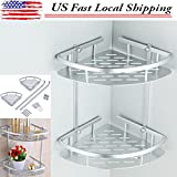 Shampoo Basket Shower Caddy Shelf Bathroom Corner Rack Storage Holder Hanger -US