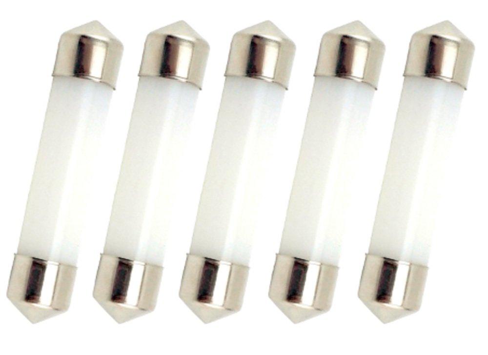 Luz Fr/ía, 5-Unidades Bonlux 42MM 1W 12V LED Bombilla con 100 L/úmenes para la Iluminaci/ón Interior de Coche
