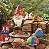 Gnome Greeter Collection - Garden Accents with 9 interchangeable Holiday Seasonal hats