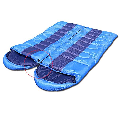 AYAMAYA Zero Degree Sleeping Bags for Adults Backpacking Camping, Double Envelope Lightweight Compact Camping Sleeping Bag with Compression Bag for 4 Season 0 Degree Spring for Dad