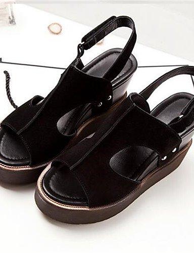 ZQ Zapatos de mujer-Tac¨®n Robusto-Tacones-Tacones-Casual-PU-Negro / Gris , gray-us8 / eu39 / uk6 / cn39 , gray-us8 / eu39 / uk6 / cn39 gray-us6.5-7 / eu37 / uk4.5-5 / cn37