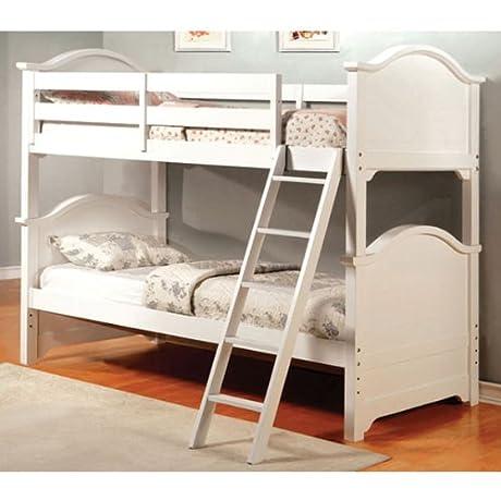 247SHOPATHOME Idf BK616W Bunk Beds Twin White