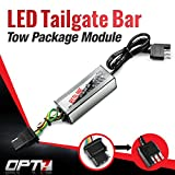 OPT7 Redline Triple LED Tailgate Bar Rear Sensor Tow Assist 4-Pin Module - for Pick up Trucks with Back-up Reverse Camera or Trailer Tow Assist Package