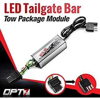 Discount OPT7 Redline Triple LED Tailgate Bar Rear Sensor Tow Assist 4-Pin Module - for Pick up Trucks with Back-up Reverse Camera or Trailer Tow Assist Package
