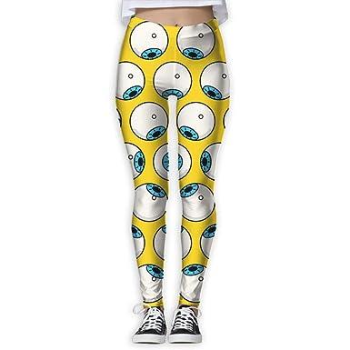 sushen Globo ocular Pantalones de yoga de cintura alta con ...