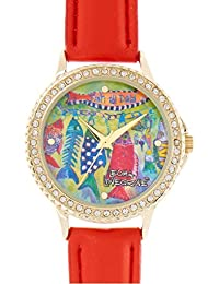 Womens Fish All Day Watch One Size Red multi