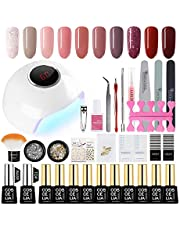 Saint-Acior UV nagel set gel kleuren voor nagels nagellak set 24 W UV + LED nagel lamp starterset manicure 10x gel vernissen uv gel lak set