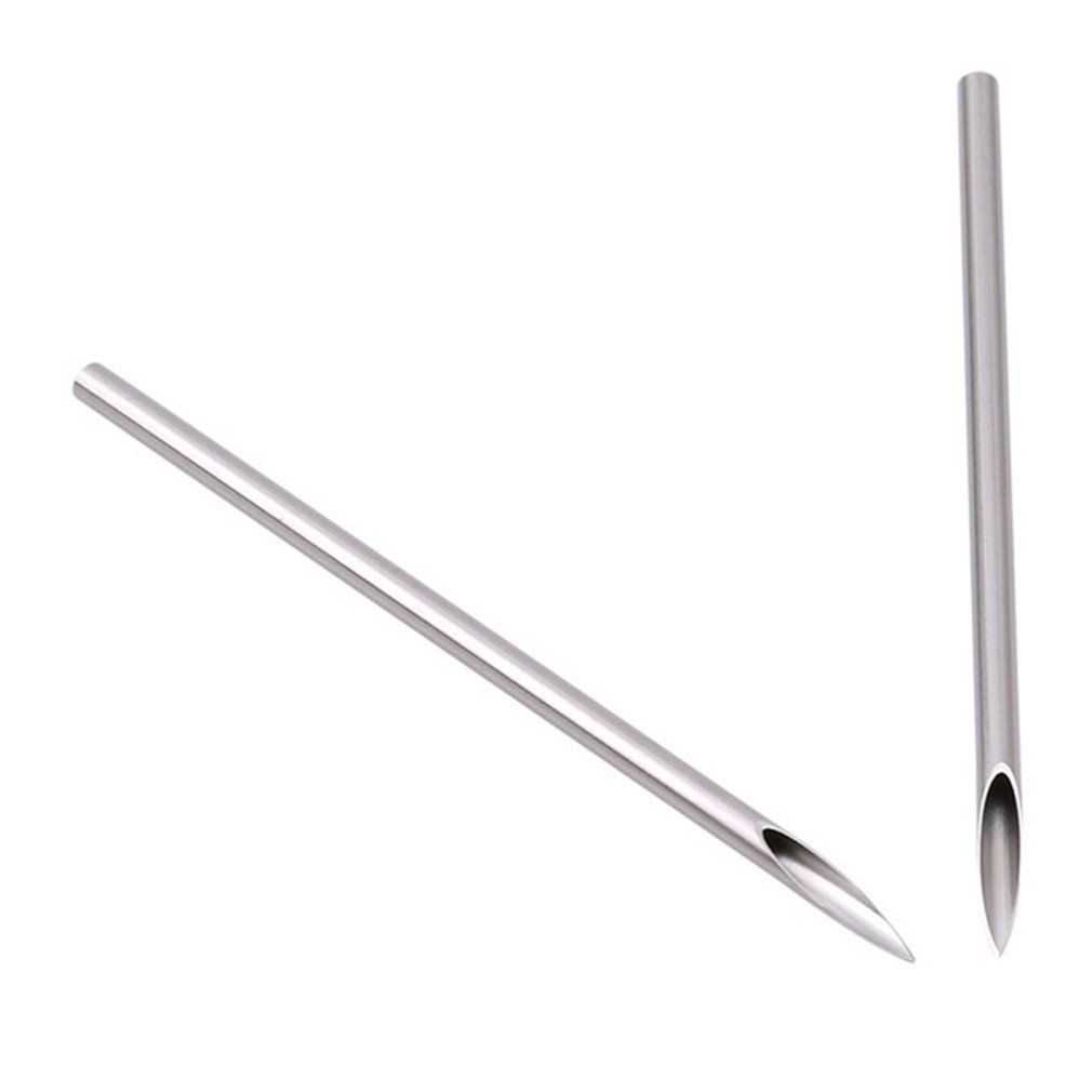 EH-LIFE 10pcs/bag Surgical Steel Tattoo Piercing Needles Medical Tattoo Needle For Navel Nose/Lip/Ear Piercing 14G1