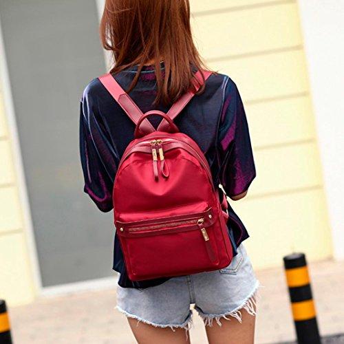 Women Red ShoulderFashion Handbag Bag Student Shoulder Backpack Bag Nylon Travel Black Crossbody Bag q45dBw5x7