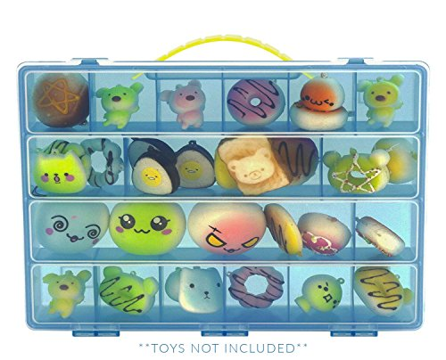 Life Made Better Squishies Case, Toy Storage Carrying Box. Figures Playset Organizer. Accessories For Kids by LMB -