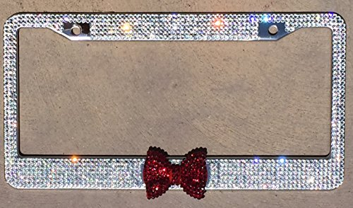 crystal license plate holder - 2
