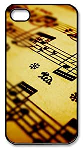 Awesome Music notes PC Case Cover for iPhone 4 and iPhone 4s ?¡ìC Black