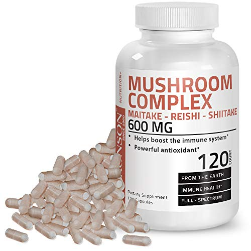 - Triple Mushroom Complex - Maitake - Reishi - Shiitake - Powerful Antioxidant and Immune System Booster - Full Spectrum Mushroom Complex - 600 mg Capsules - 120 Count