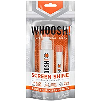 WHOOSH! – Screen Shine – Award-Winning Screen Cleaner – Safe for all Screens – Cleaning Spray & Microfiber Cloth – Non-Toxic & Odorless – Great for Smartphones, iPads, Eyeglasses, Touchscreen, LED, LC
