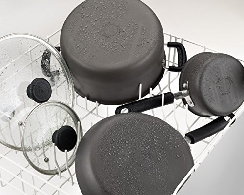 T-fal C553SC Signature Hard Anodized Thermo-Spot Heat Indicator Dishwasher Safe Cookware Set, 12-Piece, Grey