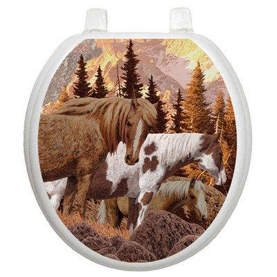 Toilet Tattoos Wild Horses Design Toilet Seat Applique