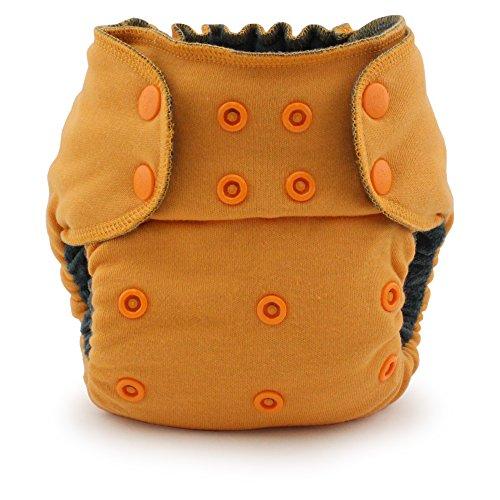 Ecoposh OBV Pocket Fitted Cloth Diaper, Saffron -
