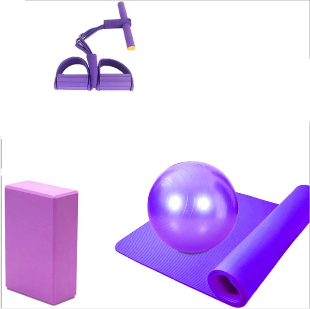 XIAHE Anfänger Yoga-Matte Vierteilige Fitness-Produkte Bodybuilding Fitness Unisex