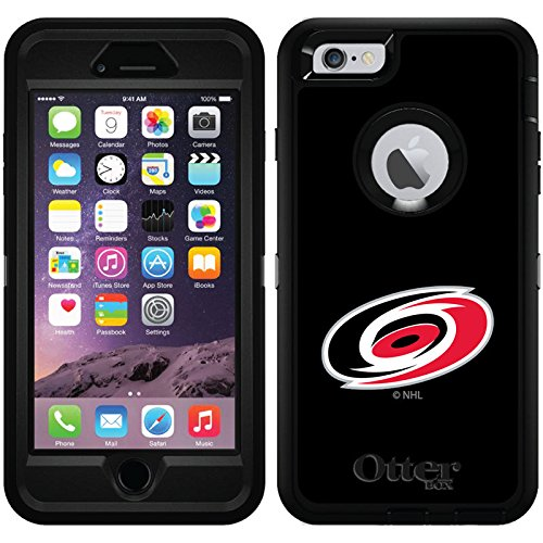 Carolina Hurricanes - Emblem design on Black OtterBox Defender Series Case for iPhone 6 Plus and iPhone 6s Plus