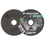 """Walter Zip Alu Fast and Free Cutoff Wheel, Type 1, Round Hole, Aluminum Oxide, 4-1/2"""" Diameter, 3/64"""" Thick, 7/8"""" Arbor, Grit A-60-ZIP-ALU (Pack of 25)"""