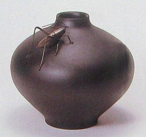 瑞峰『花器瑞福型(コオロギ付)』青銅製 【オブジェ置物】【R1864】 B074RFJD42
