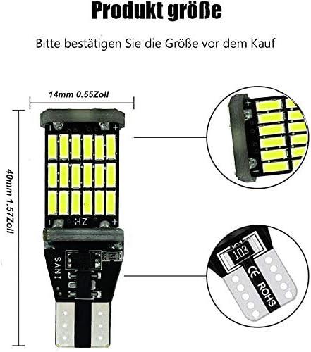 4 St/ückXW16W Wei/ß 921 912 W2,1x9,5D Gl/ühlampe 12V-24V 5W Canbus Fehlerfrei Licht Original Ersatz Halogen Birne f/ür R/ückfahrscheinwerfer