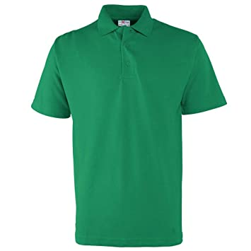 Fruit of the Loom Mens Tipped Short Sleeve Cotton Polo Shirt S,M,L,XL,XXL,3XL