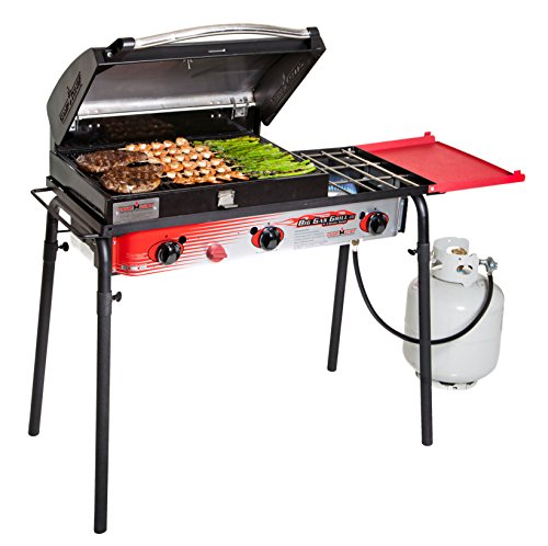 Chef Burner - Camp Chef Big Gas 3 Burner Grill Black/red