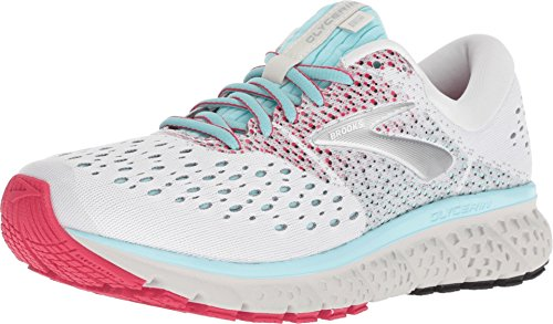 Brooks Women's Glycerin 16 White/Blue/Pink 8.5 B US from Brooks