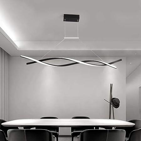 KBEST Lámpara Colgante LED/Araña De Techo De Mesa Comedor Regulable Iluminación Decorativa Altura Ajustable Moderno Elegante con Control Remoto para Dormitorio Salón Habitación Hotel,Schwarz,80cm: Amazon.es: Hogar