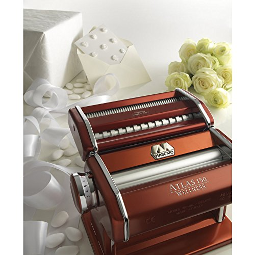Marcato Atlas Pasta Machine, Made in Italy, Red, Includes Pasta Cutter, Hand Crank, and Instructions by Marcato (Image #6)